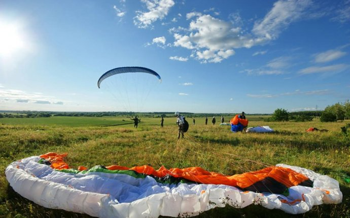 Места для полетов на параплане в Рязане. - XATV