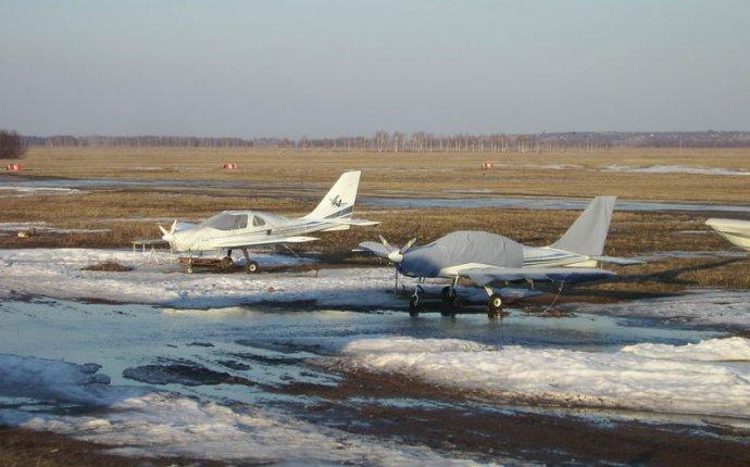 Весна на аэродроме легкой авиации в «Красном Яру»